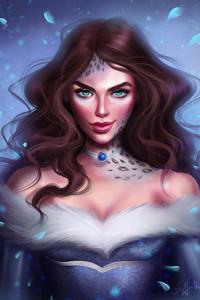 Green Eyes Fantasy Girl