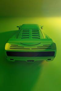 Green Ferrari F40 Rear