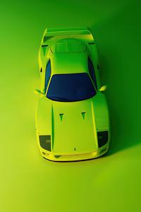 480x800 Green Ferrari F40 Top