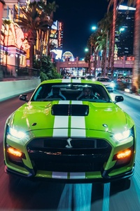 1242x2688 Green Ford Mustang Shelby GT500 2020