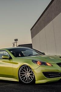 750x1334 Green Hyundai Stance Genesis