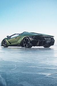 Green Lamborghini Centenario 5k