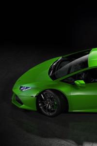 Green Lamborghini Huracan Side View