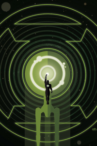 320x480 Green Lantern 4k Minimal