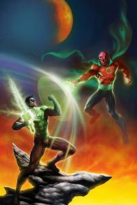 320x568 Green Lantern And Villian
