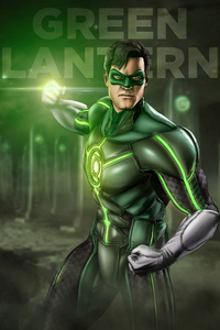 1440x2560 Green Lantern Artwork