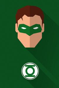 1080x1920 Green Lantern Minimal