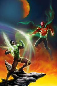1280x2120 Green Lantern Vs Villain
