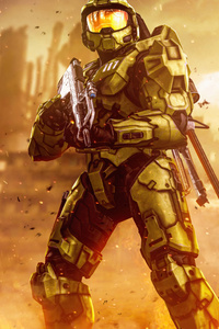 1080x2160 Green Men Halo Infinite 8k