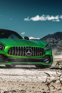 Green Mercedes Benz Amg GT 8k