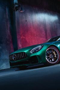 Green Mercedes Benz Amg GT