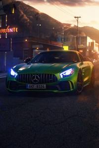 1125x2436 Green Mercedes Gt 4k