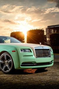 2160x3840 Green Rolls Royce Wraith 4k