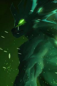 240x400 Green Werewolf 4k