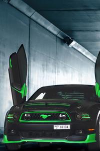 1280x2120 Greenwolf Mustang Scissor Doors 4k
