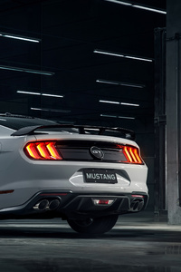 1125x2436 Grey Ford Mustang 4k