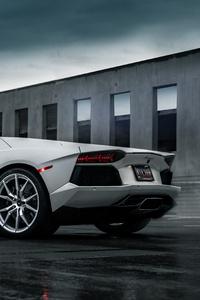 Grey Lamborghini Aventador 5k 2019