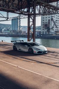 320x568 Grey Lamborghini Car