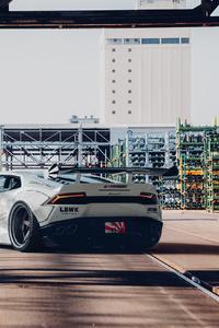 320x568 Grey Lamborghini Car Rear