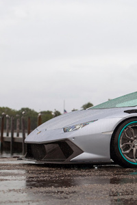 Grey Lamborghini Huracan 4k 2019