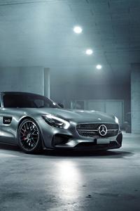 320x568 Grey Mercedes Benz Amg GT 4k