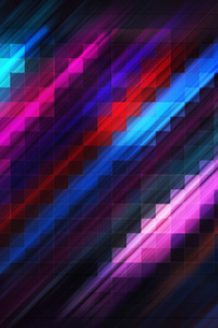 Grid Abstract Colorful 4k