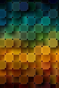 320x480 Grid Pattern Abstract Digital Art 4k