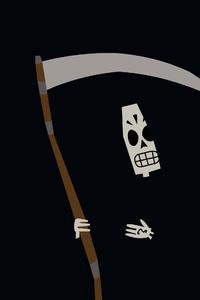1440x2560 Grim Reaper Minimal 4k