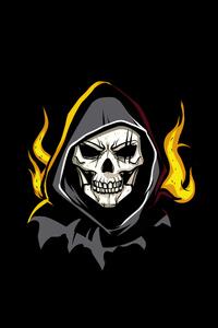240x400 Grim Reaper Minimal Art 4k