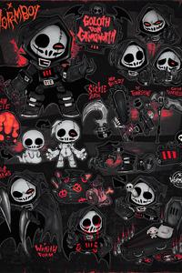 720x1280 Grim Reapers Skulls 4k