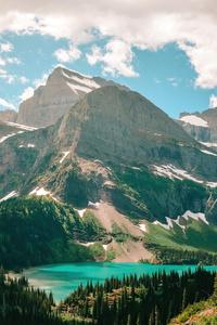 320x480 Grinnell Lake In Glacier National Park 5k