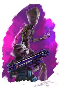 Groot And Rocket In Avengers Infinity War