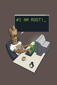 Groot I Am Root