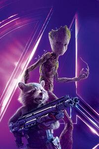 2160x3840 Groot In Avengers Infinity War 8k Poster