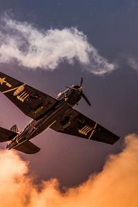 Grumman TBF Avenger Aircraft Sky Clouds 5k