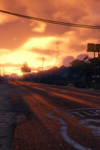 360x640 GTA 5 Sunset