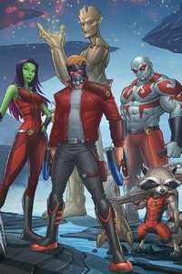 Guardians Of The Galaxy Art