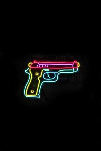Gun Glow Minimal 8k