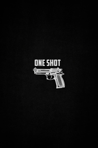 1080x1920 Gun One Shot Dark 4k