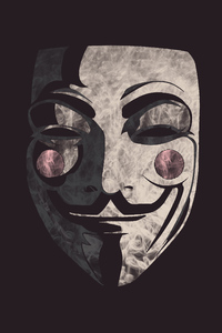 1242x2688 Guy Fawkes Mask Background