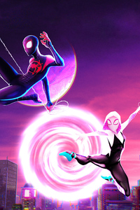 540x960 Gwen Stacy And Spiderman Into The Spider Verse