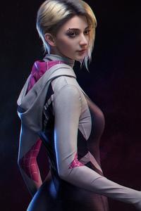 320x568 Gwen Stacy Beautiful Cgi Art 4k