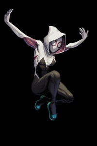 Gwen Stacy In Spider Man Into The Spider Verse Artwork