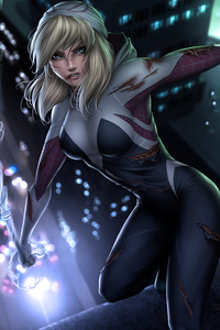 640x960 Gwen Stacy Marvel Art