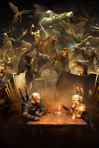 1080x2280 Gwent The Witcher Card Game
