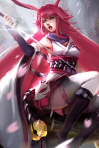 1080x1920 Gyakushinn Miko Yae Sakura 4k