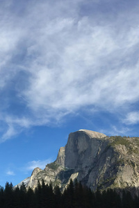 320x480 Half Dome Yosemite California 5k