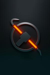 1080x1920 Half Life Logo 4k