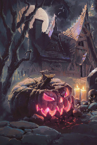 240x400 Halloween Artwork