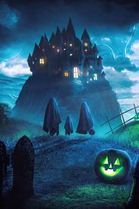 1280x2120 Halloween Ghosts